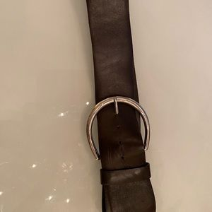 Daniel leather chocolate brown belt